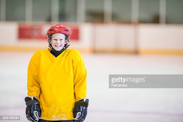 Boy at Hockey Practice