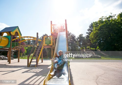 Boy at playground : Stock Photo