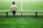 Boy at Soccer Stadium