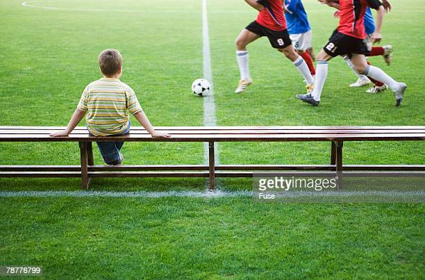 Boy at Soccer Stadium