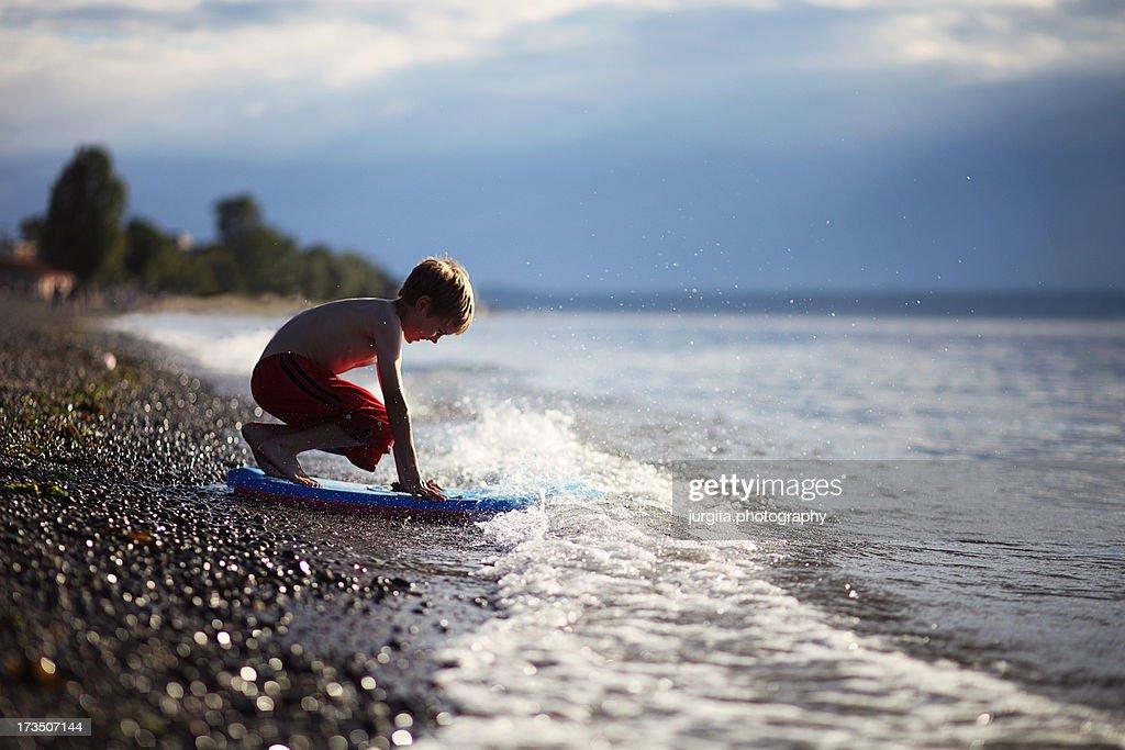 Boy at the beach : Stock Photo