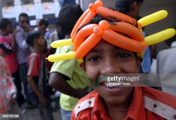 A boy at the career fair organised for street children at Don Bosco School in Matunga on Saturday