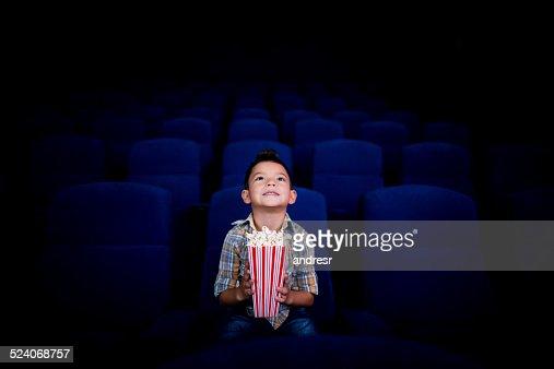 Boy at the cinema