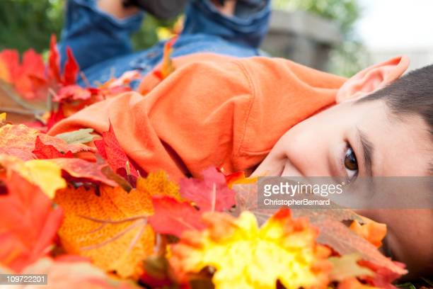 Boy autumn portrait