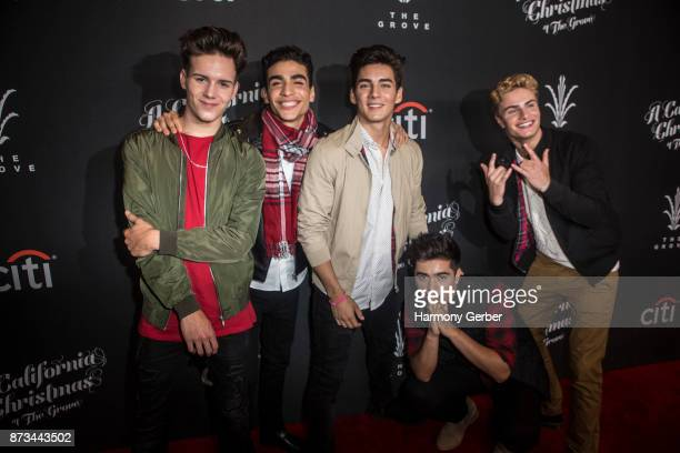 Boy band In Real Life attend the California Christmas at The Grove on November 12 2017 in Los Angeles California