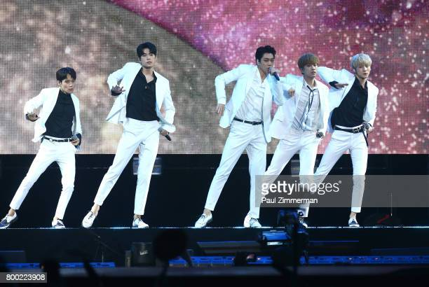 Boy Band KNK performs onstage at KCON 2017 at Prudential Center on June 23 2017 in Newark New Jersey