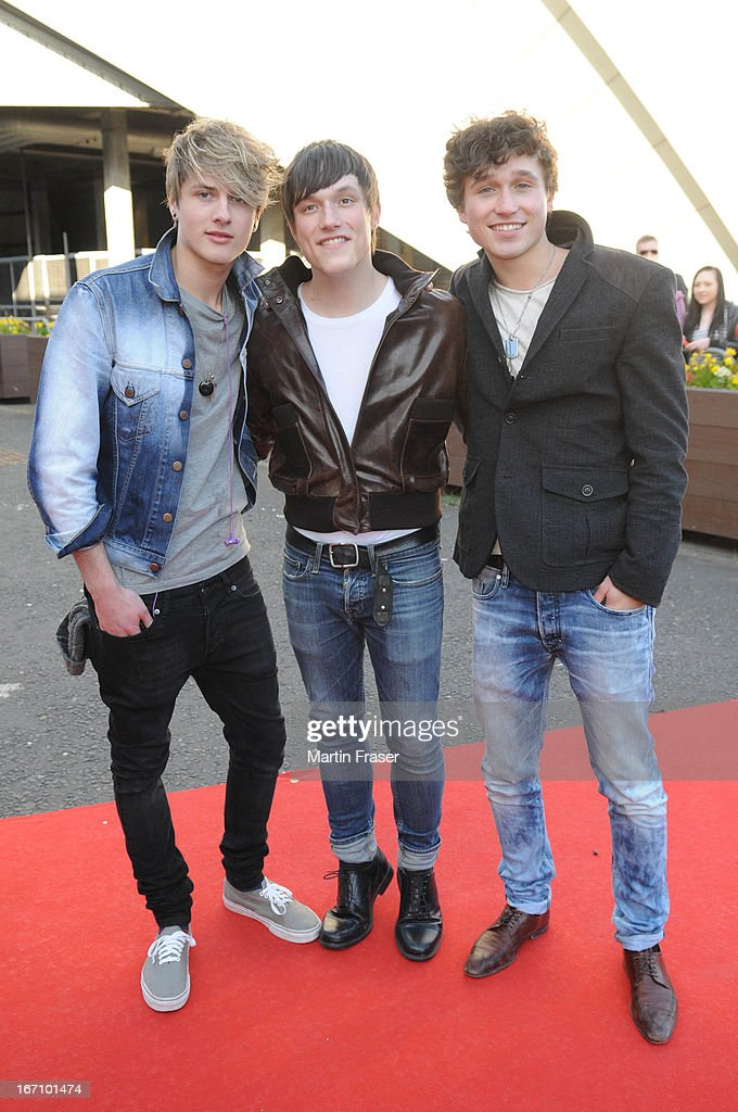 Boy Band Supernova attend the Young Scot Awards 2013 at Crowne Plaza on April 19, 2013 in Glasgow, Scotland.
