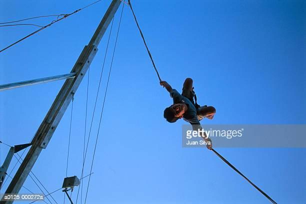 Boy Bungee Jumping