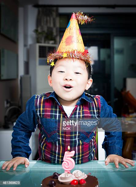 Boy celebrate his birthday