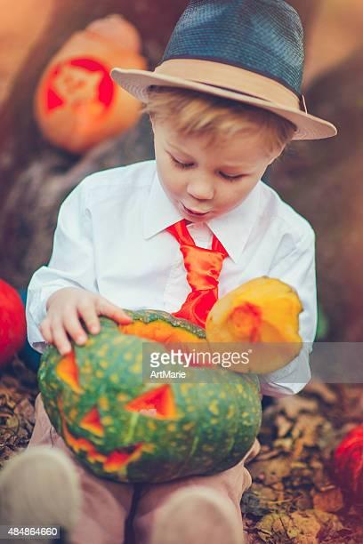 Boy celebrating Halloween