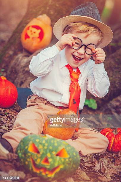 Boy celebrating Halloween