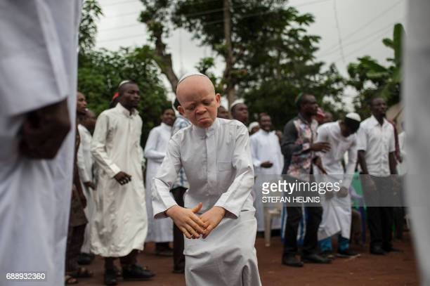 A boy dances during Shabbat celebration gathering Indigenous People of Biafra militants and members of the Yahveh Yashua Synagogue outside the house...