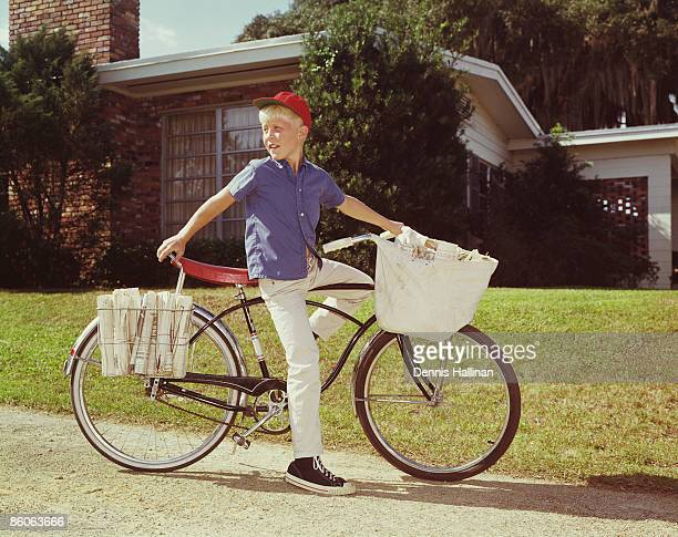 Boy Delivering Newspapers
