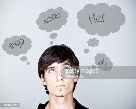 Boy dreaming : Stock Photo