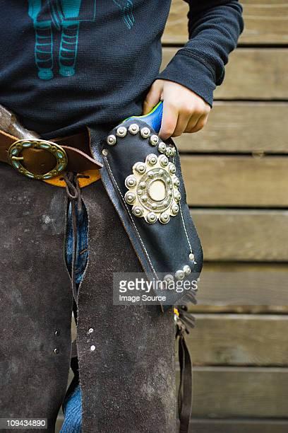 Boy dressed up as cowboy