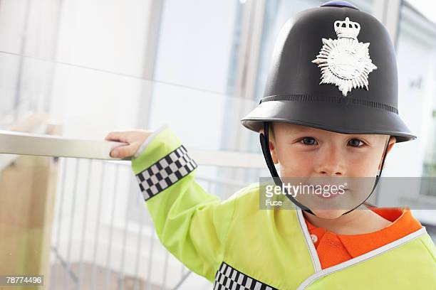 Boy Dressed up as Policeman