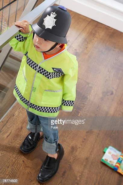 Boy Dressed up as Policeman