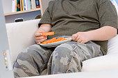 Boy Eating Carrot Sticks