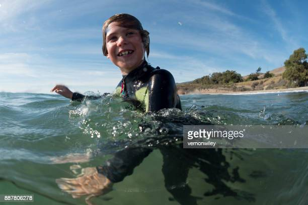 Boy enjoying the beauty of Santa Barbara