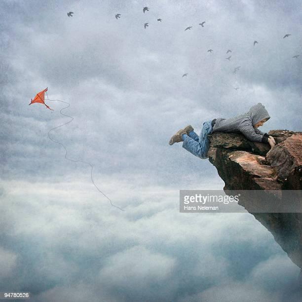 Boy falling off a rock, Republic of Ireland