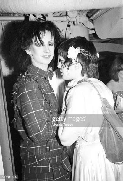 Boy George and a friend with fellow New Romantics aboard HMS Belfast watching Spandau Ballet perform live on July 26 1980