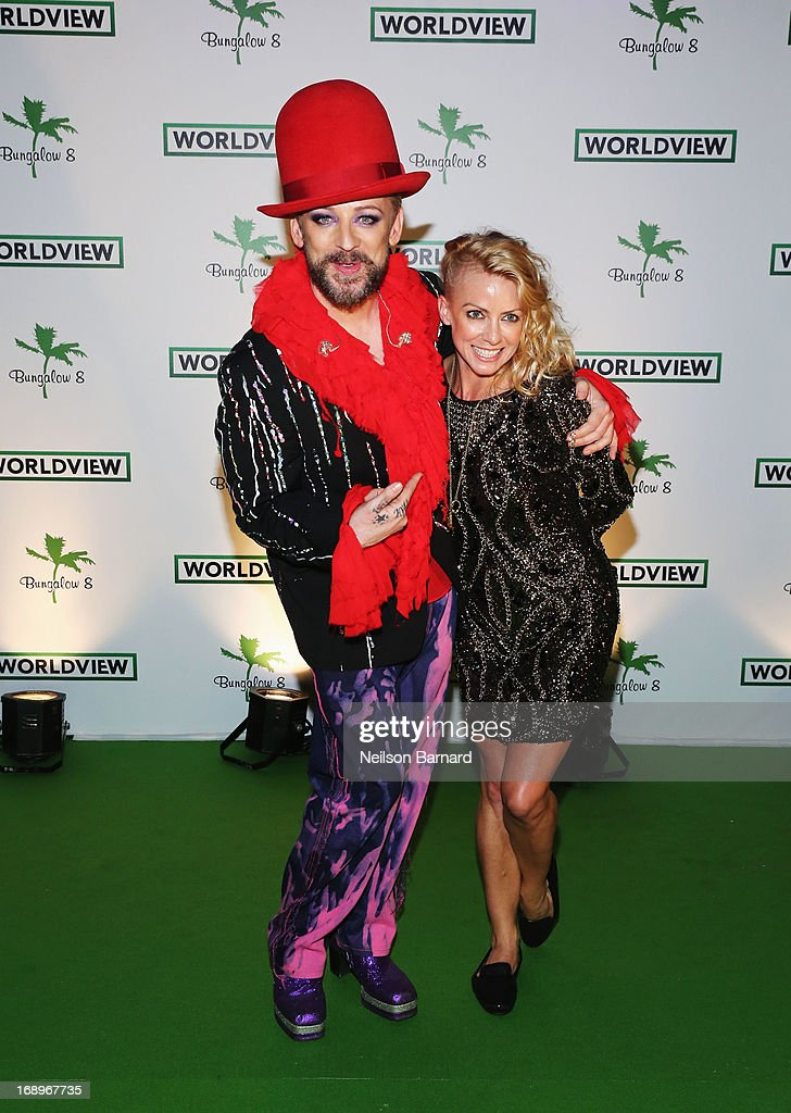 <a gi-track='captionPersonalityLinkClicked' href=/galleries/search?phrase=Boy+George&family=editorial&specificpeople=203135 ng-click='$event.stopPropagation()'>Boy George</a> and DJ Nicole Leone attend the Worldview Entertainment Cannes Celebration during the 66th Annual Cannes Film Festival at Carlton Beach Club on May 17, 2013 in Cannes, France.