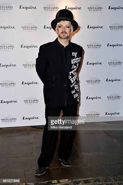 Boy George arrives at the Esquire Party during the London Collections Men AW14 at Rosewood London on January 6 2014 in London England