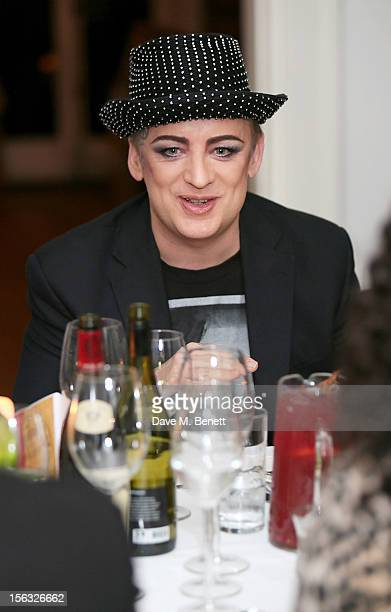 Boy George attends as he and Gizzi Erskine host a Great British C Party in support of The Hepatitis C Trust the UK charity for hepatitis C on...