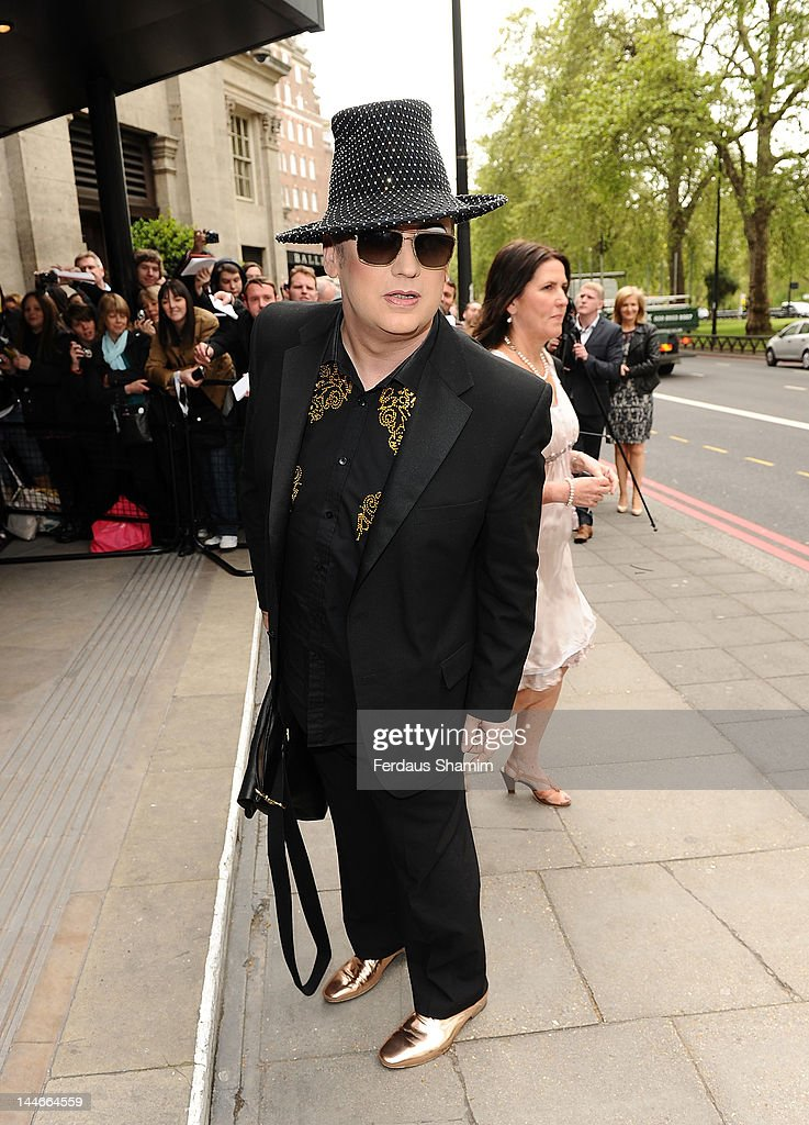 Boy George attends Ivor Novello Awards at Grosvenor House, on May 17, 2012 in London, England.