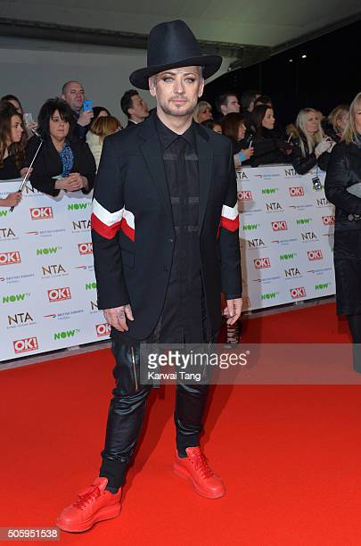 Boy George attends the 21st National Television Awards at The O2 Arena on January 20 2016 in London England