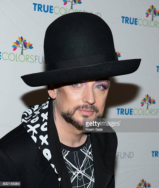 Boy George attends the 5th Annual 'Cyndi Lauper and Friends Home For The Holidays' benefit concert at The Beacon Theatre on December 5 2015 in New...