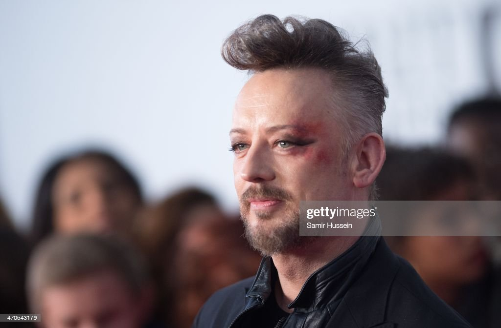 Boy George attends The BRIT Awards 2014 at 02 Arena on February 19, 2014 in London, England.
