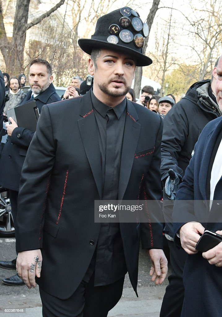 Boy George attends the Dior Homme Menswear Fall/Winter 2017-2018 show as part of Paris Fashion Week on January 21, 2017 in Paris, France.
