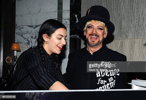 Boy George attends the London Collections Men Esquire party at the Rosewood London on January 6 2014 in London England