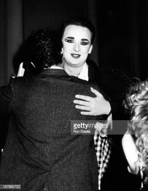 Boy George during Boy George Sighting at Limelight in New York City Febuary 20 1985 at The Limelight in New York City New York United States