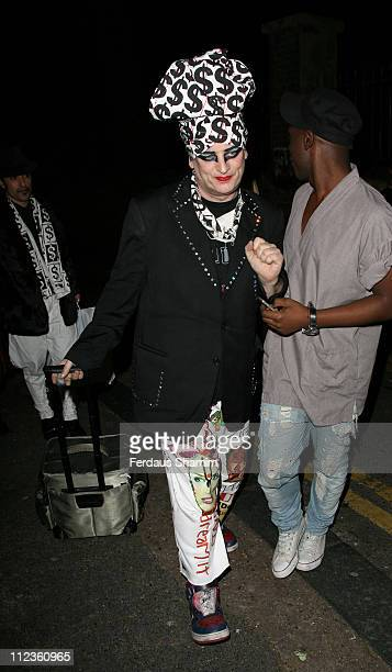 Boy George during BRude Launch Party Outside Arrivals at George and Dragon in London Great Britain