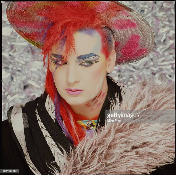 Boy George from Culture Club posed in London in 1984