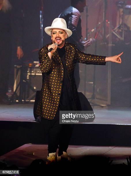 Boy George of Culture Club performs on December 14 2016 in London United Kingdom