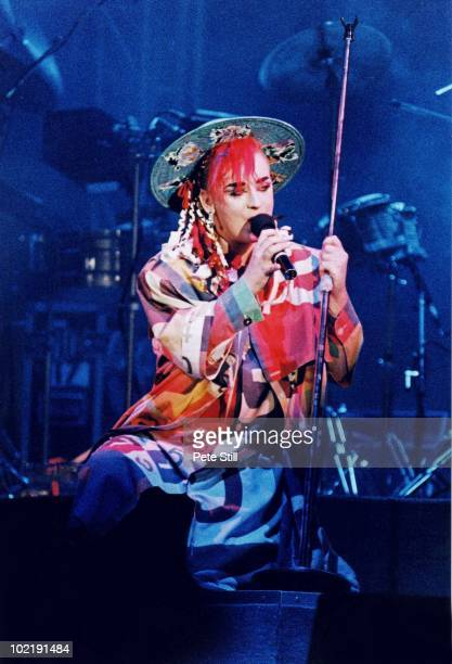 Boy George of Culture Club performs on stage at Wembley Arena on December 17th 1984 in London England