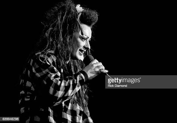 Boy George of Rock group Culture Club performs at the Civic Center in Atlanta Georgia April 18 1984