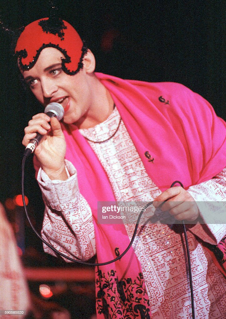 Boy George performing on stage at The Forum Kentish Town London 07 November 1990