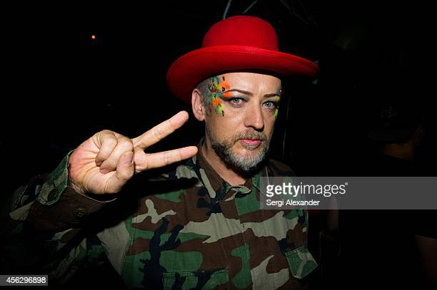 Boy George performs at Space nightclub Miami on August 9 2014 in Miami Florida