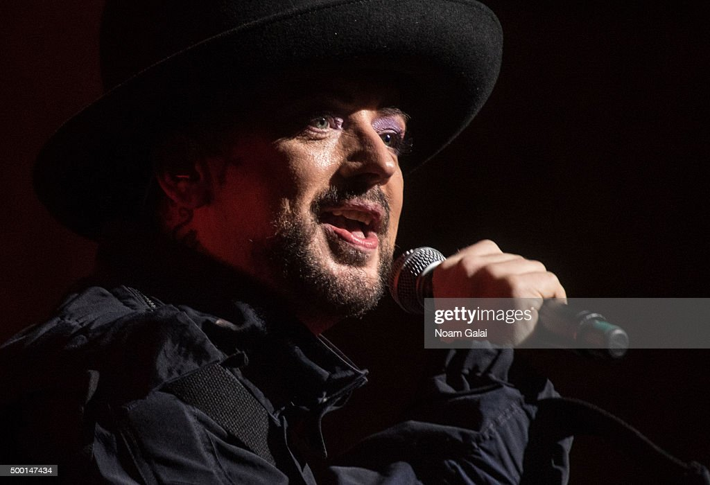 Boy George performs at the 5th Annual 'Cyndi Lauper and Friends: Home For The Holidays' benefit concert at The Beacon Theatre on December 5, 2015 in New York City.