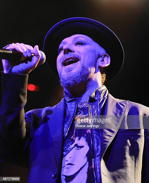Boy George performs at The Fillmore on April 28 2014 in San Francisco California