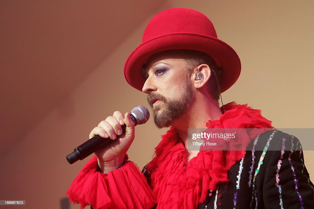 <a gi-track='captionPersonalityLinkClicked' href=/galleries/search?phrase=Boy+George&family=editorial&specificpeople=203135 ng-click='$event.stopPropagation()'>Boy George</a> performs at the Worldview Entertainment Cannes Celebration during the 66th Annual Cannes Film Festival at Carlton Beach Club on May 17, 2013 in Cannes, France.