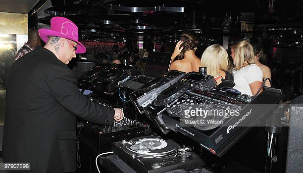 Boy George performs his new single at the Merah Club on March 20 2010 in London England