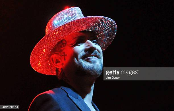 Boy George performs live on stage at Indigo2 at O2 Arena on April 3 2014 in London United Kingdom