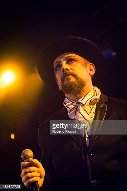 Boy George performs on stage at The Liquid Room on March 30 2014 in Edinburgh United Kingdom