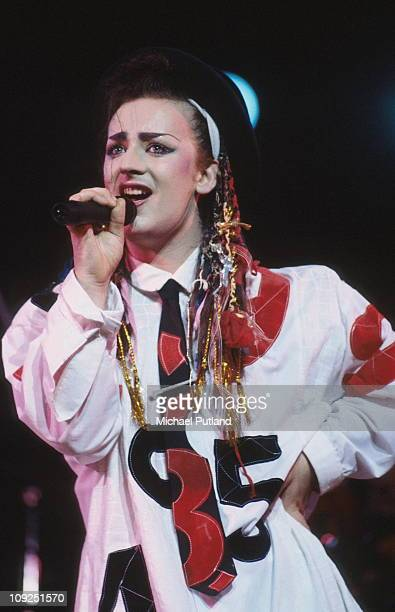 Boy George performs on stage with Culture Club New York August 1983