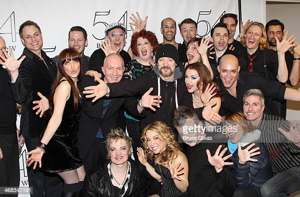 Boy George poses with the cast and band at 'TabooTen Years Later' reunion concert at 54 Below on February 9 2014 in New York City